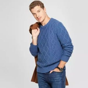 Goodfellow & Co. Size M Blue Chunky Knit Sweater
